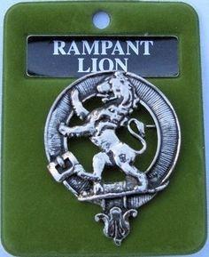 Rampant Lion Cap Badge