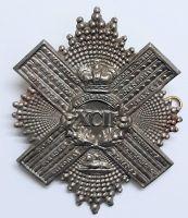 92nd Gordon Highlanders Large Brass Victorian Cross Belt Regimental Cap Badge