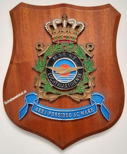 Wapenschild Marine Luchtvaartdienst, 17.5 x 14.5 cm