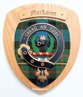 Wapenschild MacLaren - Greag an Tuirc, 22 x 19 cm