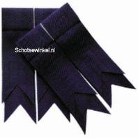 Purple Plain Coloured Garter, Flashes