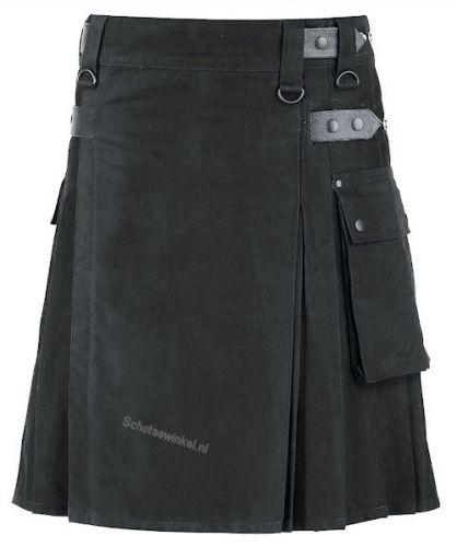 Budget Kilt, Utility Men's Kilt, Black 36/25