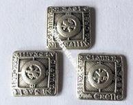 Button, Ancient Brass Large (per stuk)