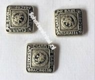 Button, Ancient Brass Small (per stuk)