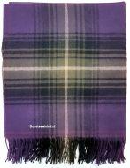 Blanket,  100% lamswol, Heather Tartan, 170 x 140