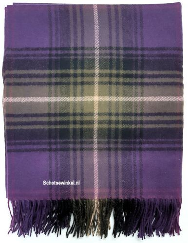 Blanket,  100% lamswol, Heather Tartan, 170 x 140