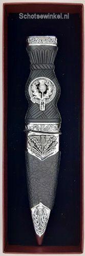 Thistles, metal top, Sgian Dubh