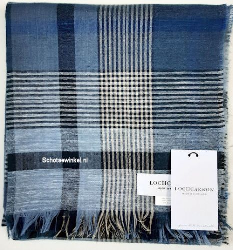 Shawl - Omslagdoek Indigo Plaid