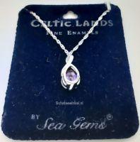 Sierraden, Hanging, Celtic Stone , lila