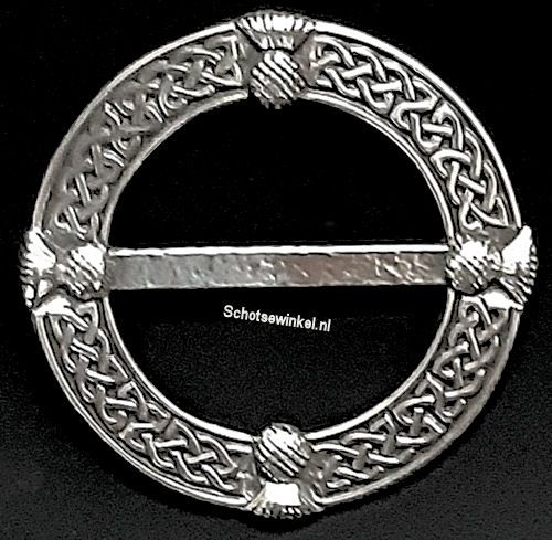 Scarf Ring, (M) Celtic Thistle, 6 cm