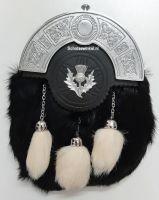 Budget Sporran Dress Zwart met witte tassels