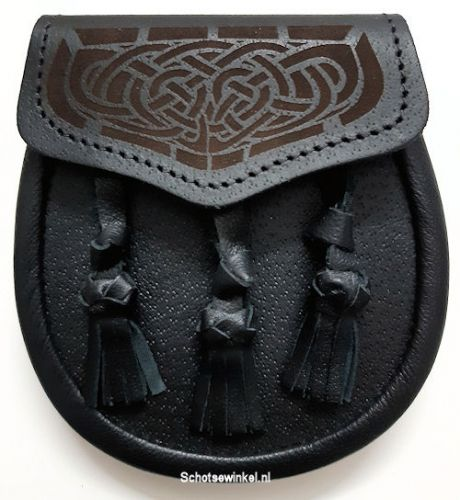 Kinder Sporran,Celtic Knot, 3 Tassels, 15 cm