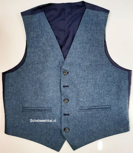 Waistcoat Blue Flinstone Tweed, medium