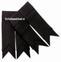 Black Plain Coloured Garter