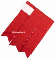 Basic Plain Colour Wool Red Flashes