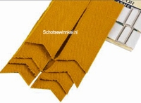 Basic Plain Colour Wool Gold Flashes