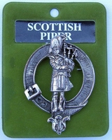 Scottish Piper Cap Badge